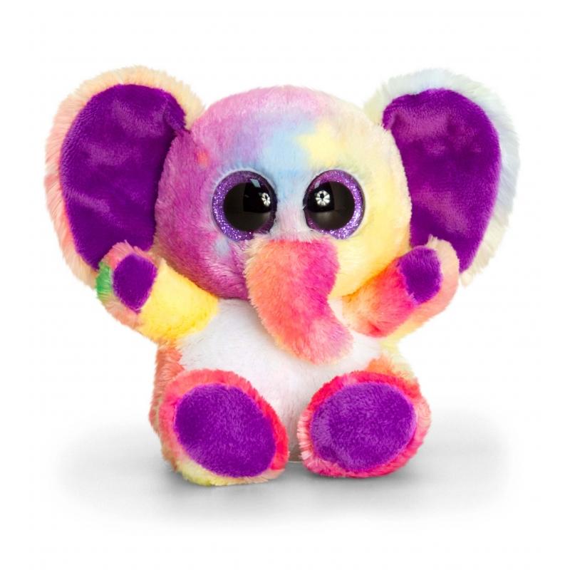 Keel Toys pluche olifant knuffel gekleurd 15 cm