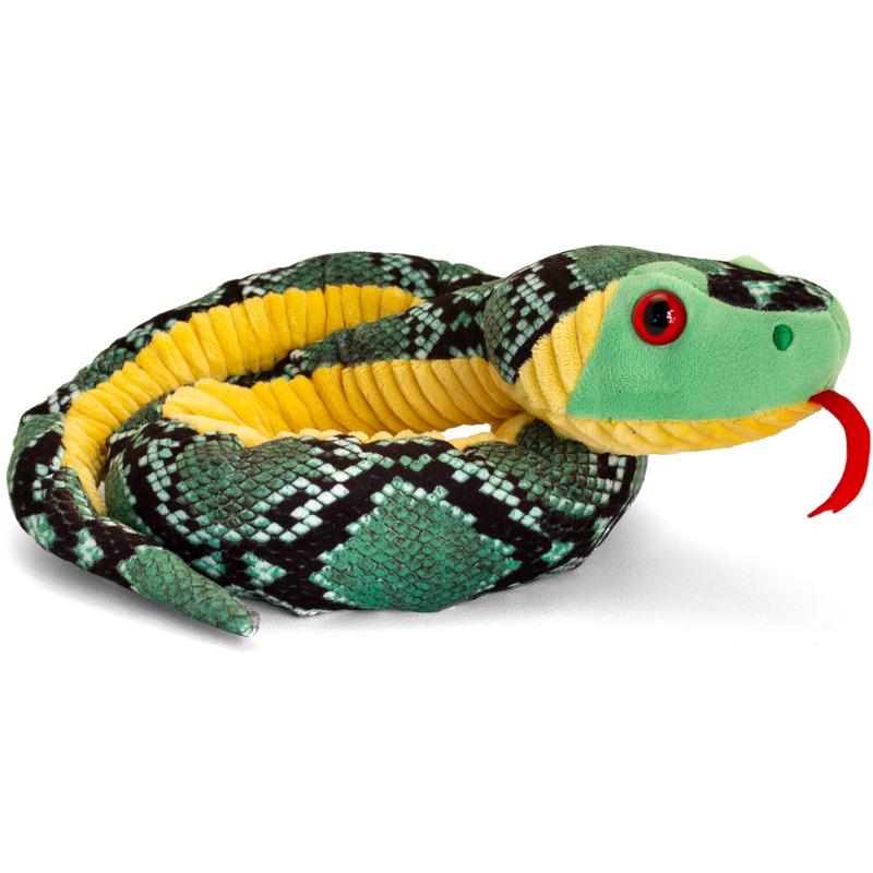 Keel Toys pluche ratelslangen knuffel van 100 cm