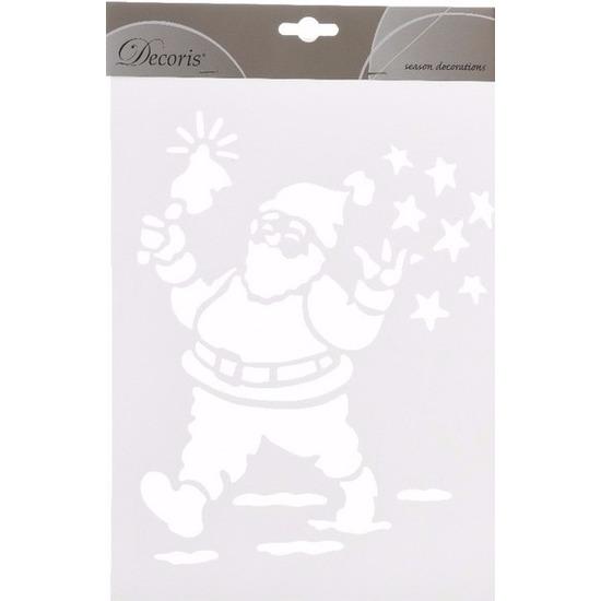 Kerst raamsjablonen/raamdecoratie Kerstman plaatjes 30 cm