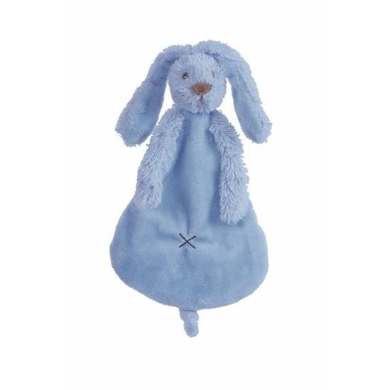 Knuffel tuttel konijn denimblauw 25 cm