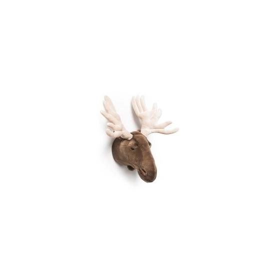 Knuffeldier Elanden kop voor aan de muur