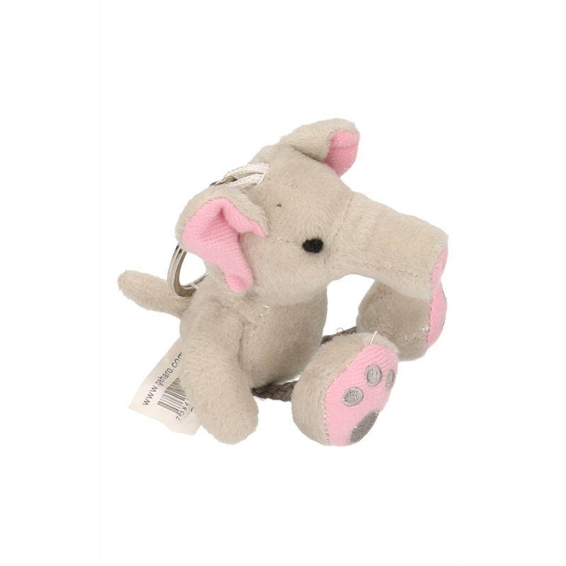 Knuffeldier sleutelhanger olifant 10 cm