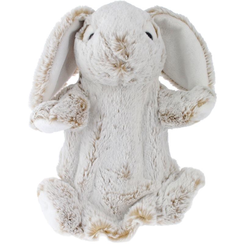 Konijnen/hazen speelgoed artikelen konijn/haas handpop knuffelbeest bruin 25 cm