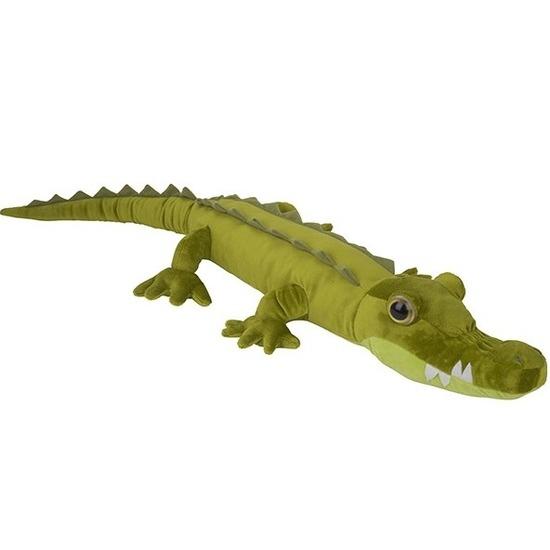 Krokodillen speelgoed artikelen krokodil knuffelbeest groen 110 cm