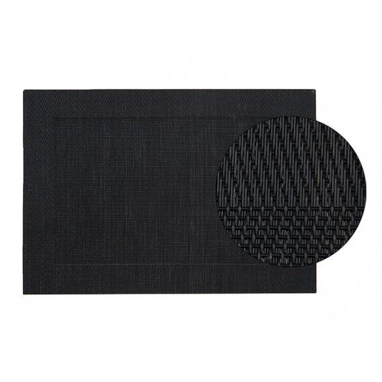 Kunststof onderlegger zwart 45 x 30 cm