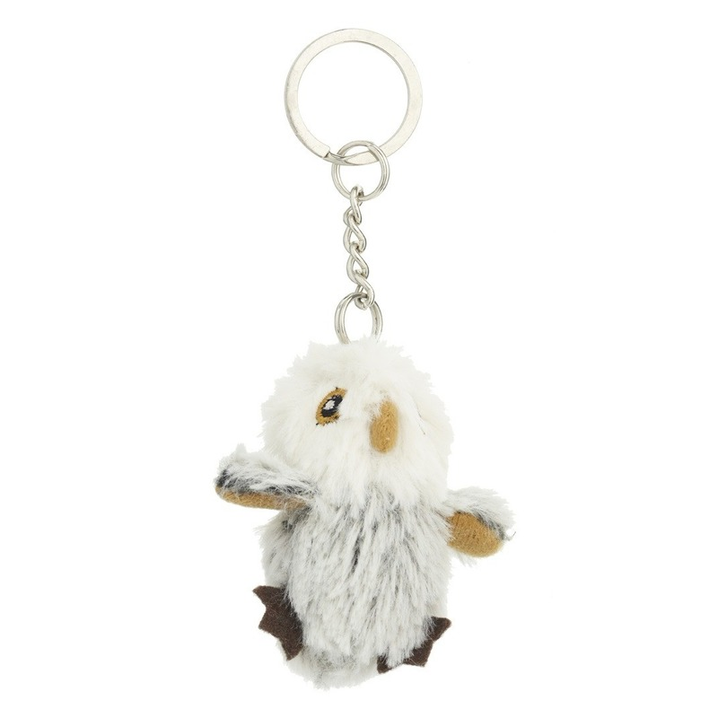 Afbeelding: Mini uil met sleutelhanger 6 cm