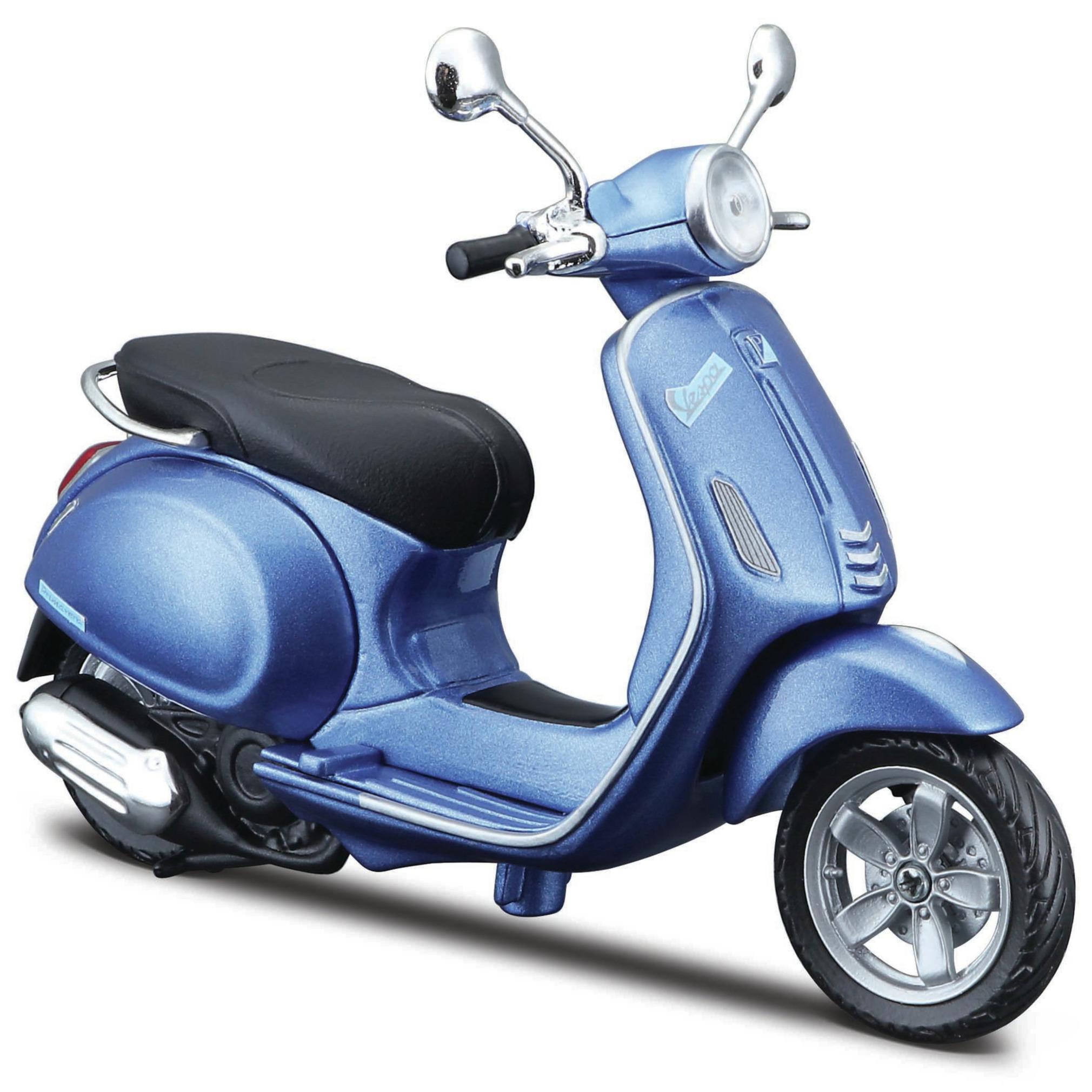 Model scooter Vespa Primavera 150 blauw schaal 1:12/15 x 11 x 6 cm