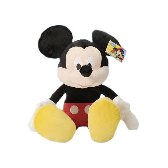 Muizen speelgoed artikelen Disney Mickey Mouse knuffelbeest zwart 49 cm