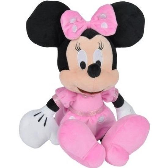 Muizen speelgoed artikelen Disney Minnie Mouse knuffelbeest zwart 19 cm