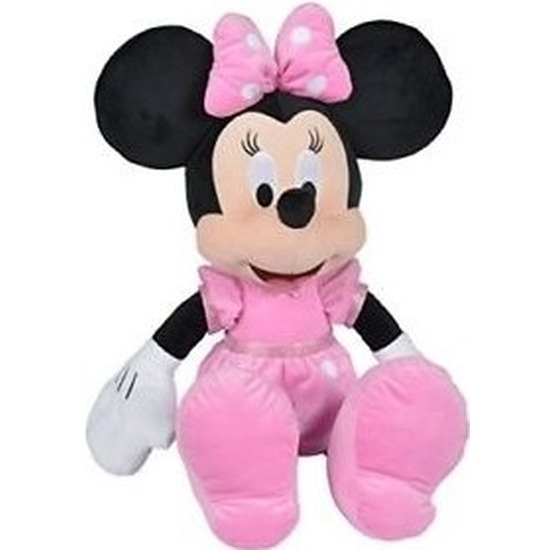 Muizen speelgoed artikelen Disney Minnie Mouse knuffelbeest zwart 60 cm