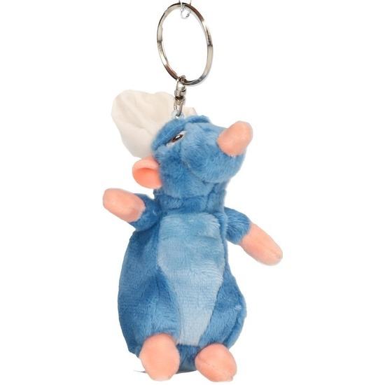 Muizen speelgoed artikelen Disney Remy Ratatouille knuffelbeest blauw 10 cm aan sleutelhanger