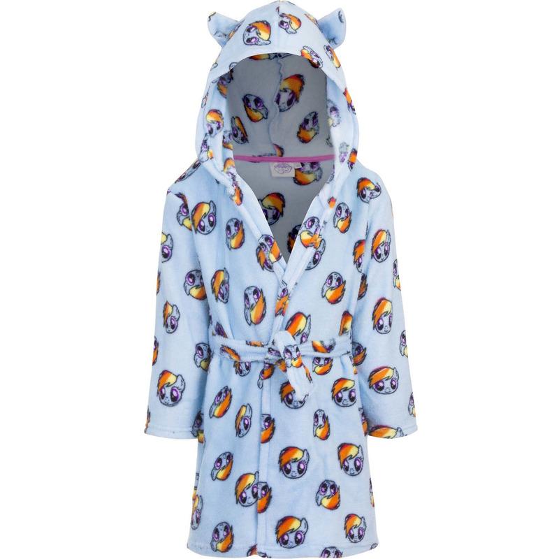 My Little Pony badjas blauw met capuchon voor kinderen