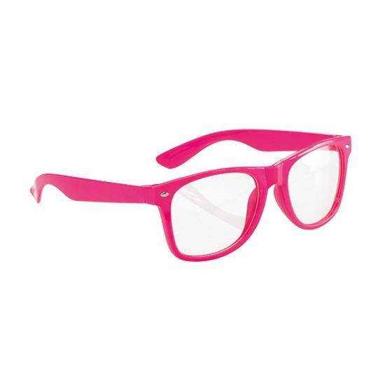 74b6ad23b8e436 Neon bril roze. een te gekke fluorescerende bril in fel roze kleur. super  gaaf
