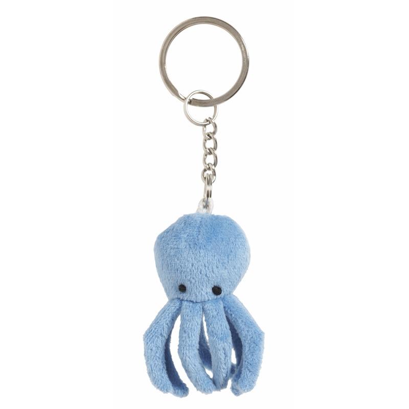 Octopus sleutelhangers 6 cm