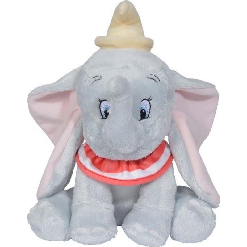 Afbeelding: Olifanten speelgoed artikelen Disney Dumbo/Dombo olifant knuffelbeest grijs 39 cm