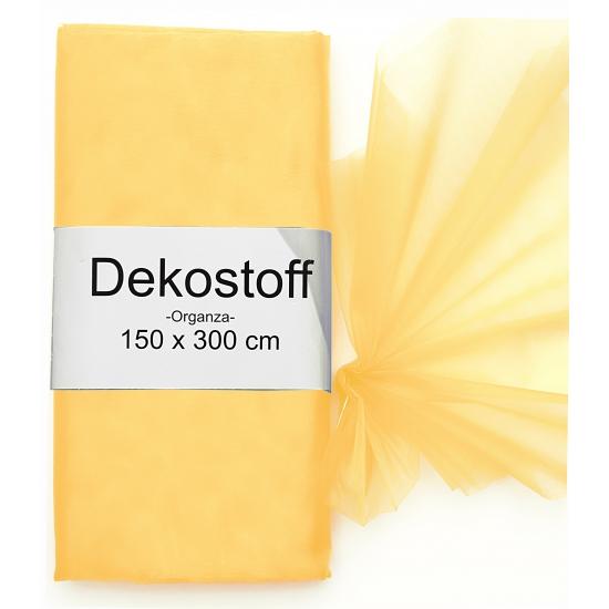 Organza stof oranje op rol 150 x 300 cm