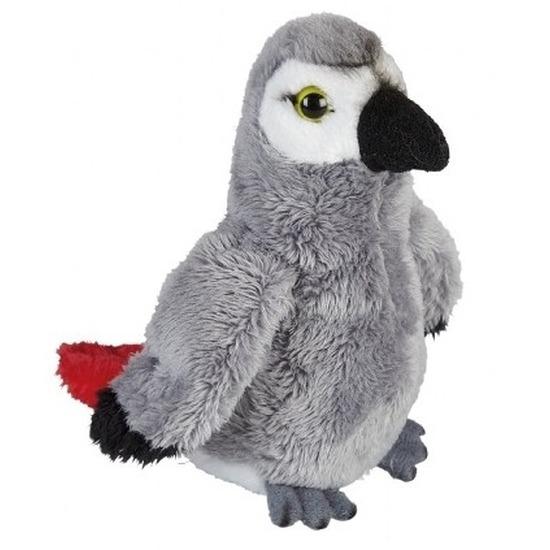 Papegaaien speelgoed artikelen knuffelbeest 15 cm