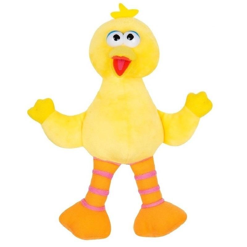 Pino/Big Bird Sesamstraat pluche knuffel 17 cm speelgoed