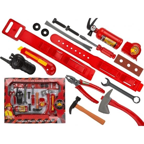 Plastic brandweerman speelgoed Geen