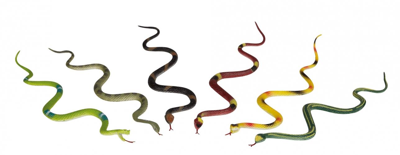 Plastic speelgoed slangen