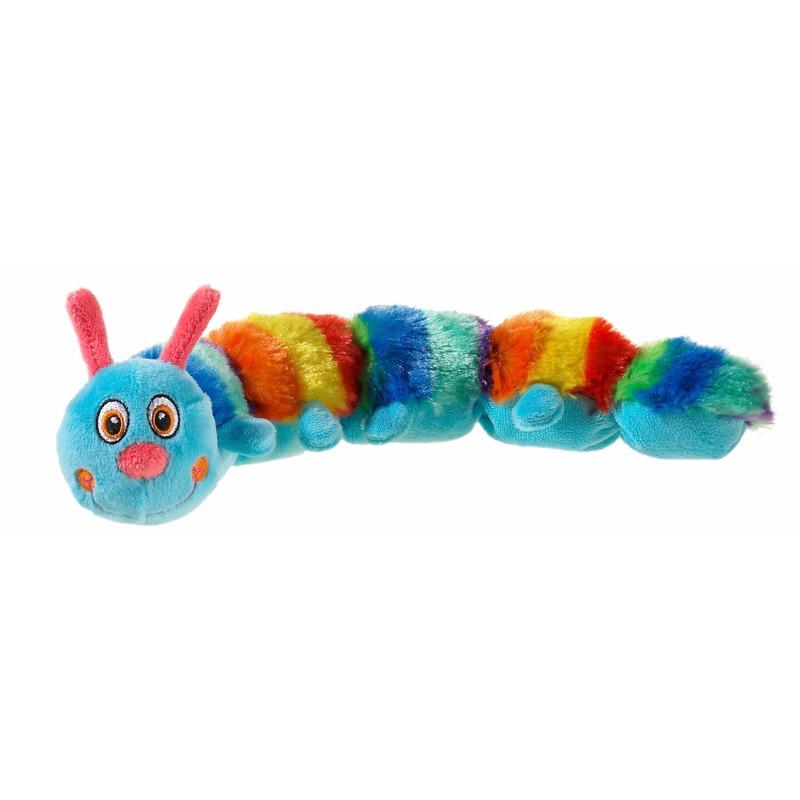 Pluche blauwe duizendpoot/rups knuffel 35 cm