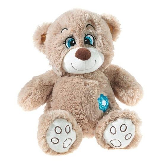 Pluche bruine knuffelbeer met glitters 40 cm