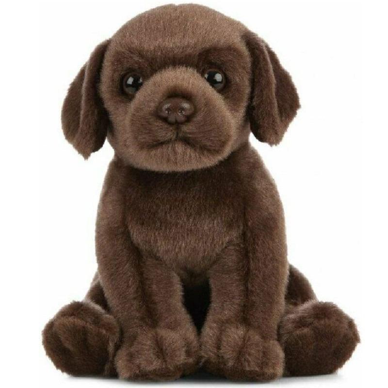 Pluche bruine Labrador hond/honden knuffel 16 cm speelgoed