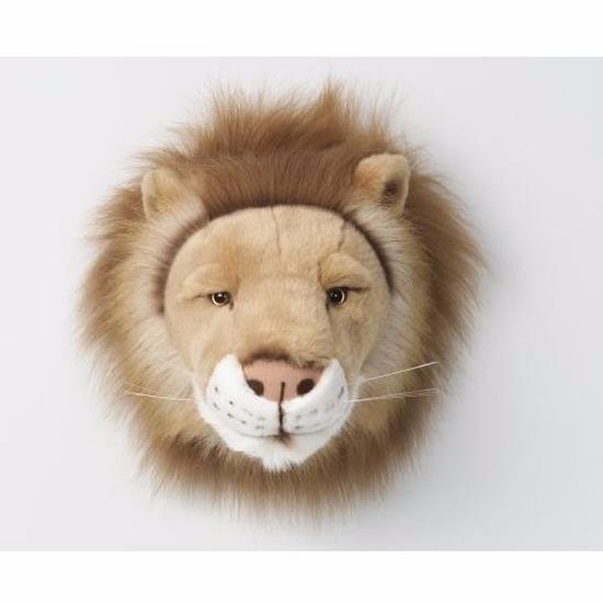 Pluche dierenkop leeuw