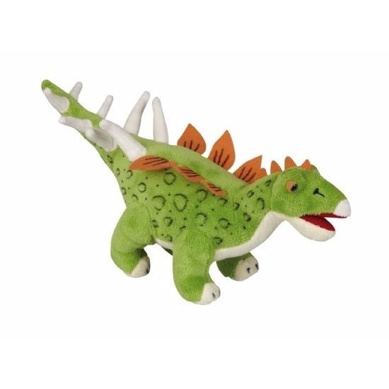 Pluche dinosaurus knuffel stegosaurus 30 cm