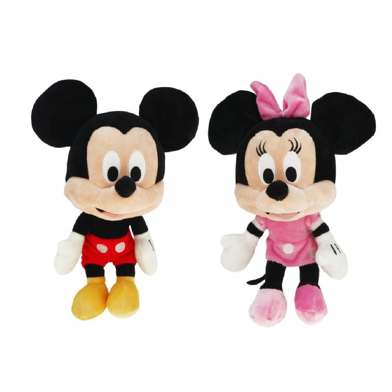 Pluche Disney Mickey Mouse/Minnie Mouse knuffels 50 cm speelgoed