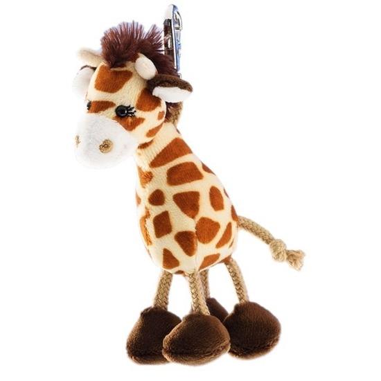 Pluche giraffe sleutelhanger 13 cm