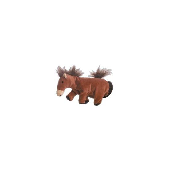 Pluche handpop paard 22 cm