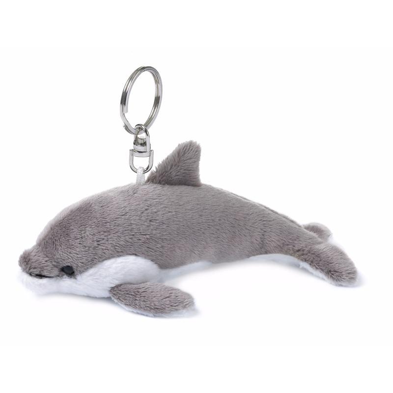 Pluche knuffel dolfijntje sleutelhanger