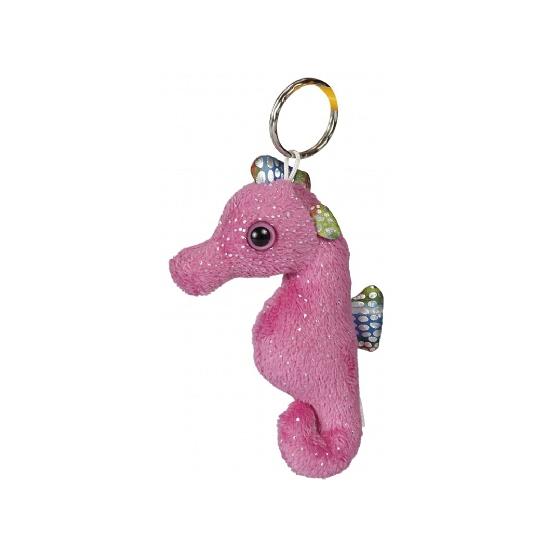 Pluche knuffeltje zeepaard roze