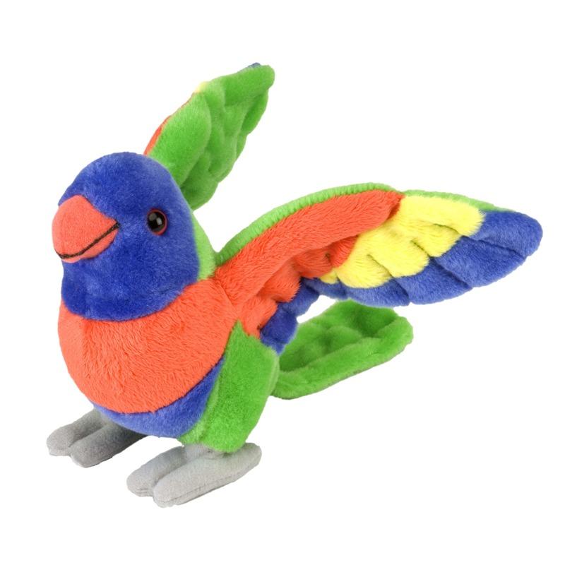 Pluche lori papegaaien vogel knuffel 20 cm