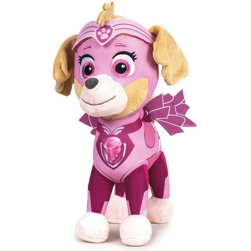 Pluche Paw Patrol Skye Mighty Pups knuffel 27 cm speelgoed