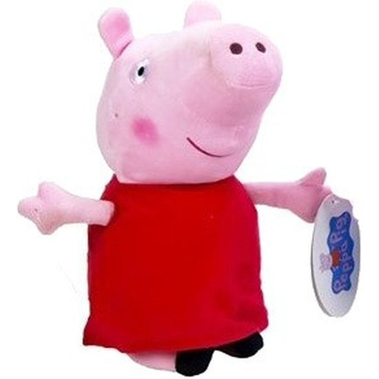 Pluche Peppa Pig/Big knuffel in rode outfit 28 cm speelgoed