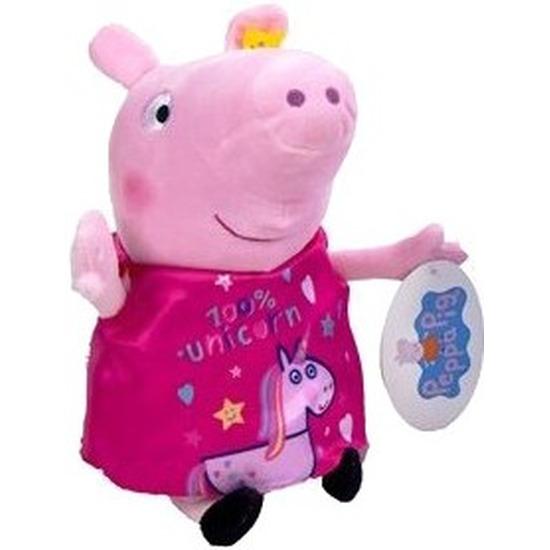 Pluche Peppa Pig/Big knuffel in roze pyjama 28 cm speelgoed