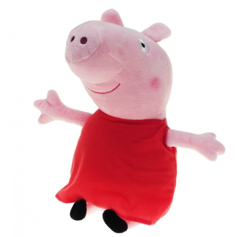 Pluche Peppa Pig/Big knuffel met rode outfit 28 cm speelgoed