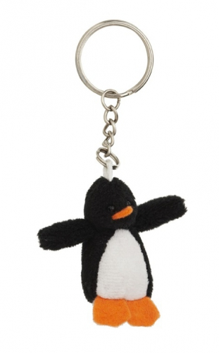 Pluche pinguin sleutelhangertje 6 cm