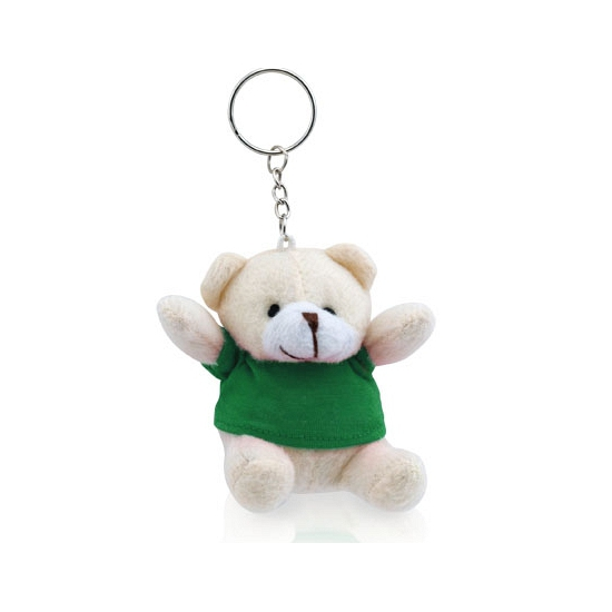 Pluche teddybeer knuffel sleutelhangers groen 8 cm