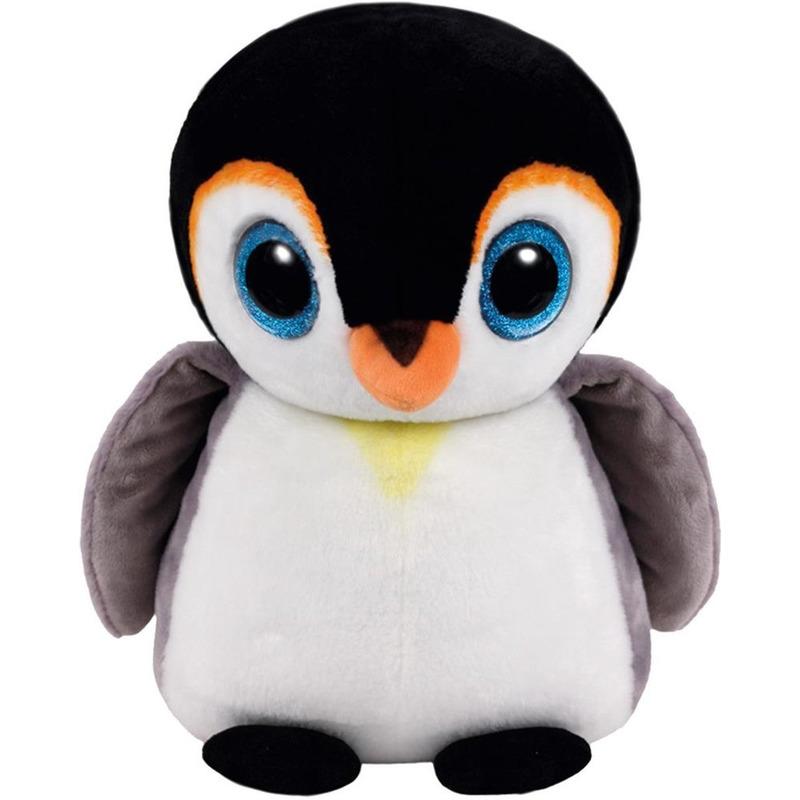 Pluche Ty Beanie Pinguin dieren knuffel Pongo 42 cm