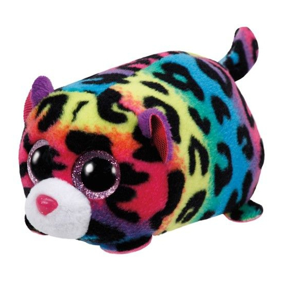 Afbeelding: Pluche Ty Teeny luipaard knuffel 10 cm