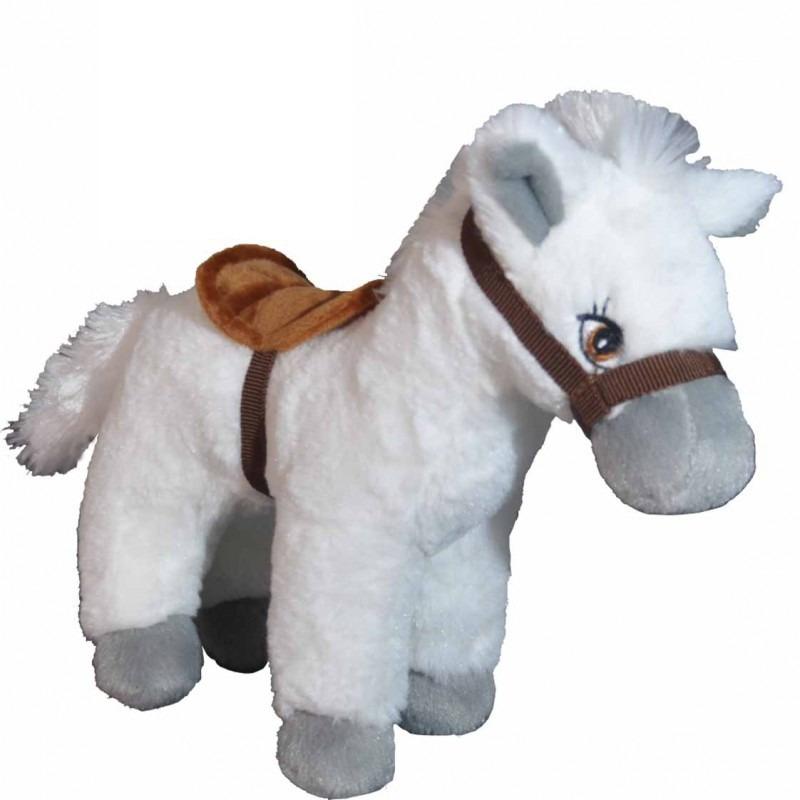 Pluche witte paarden knuffel 25 cm speelgoed