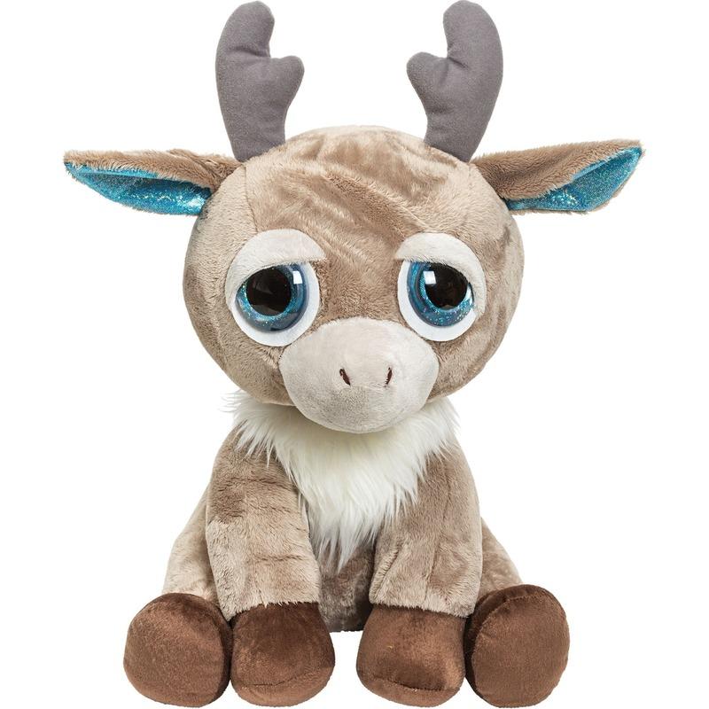 Rendieren speelgoed artikelen knuffelbeest bruin 33 cm