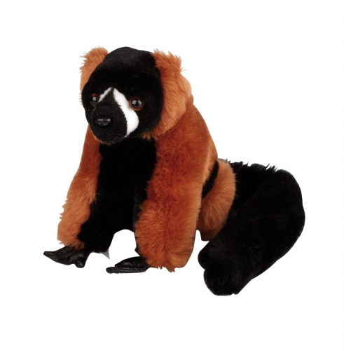 Rode Vari Lemur aapje knuffel 16 cm