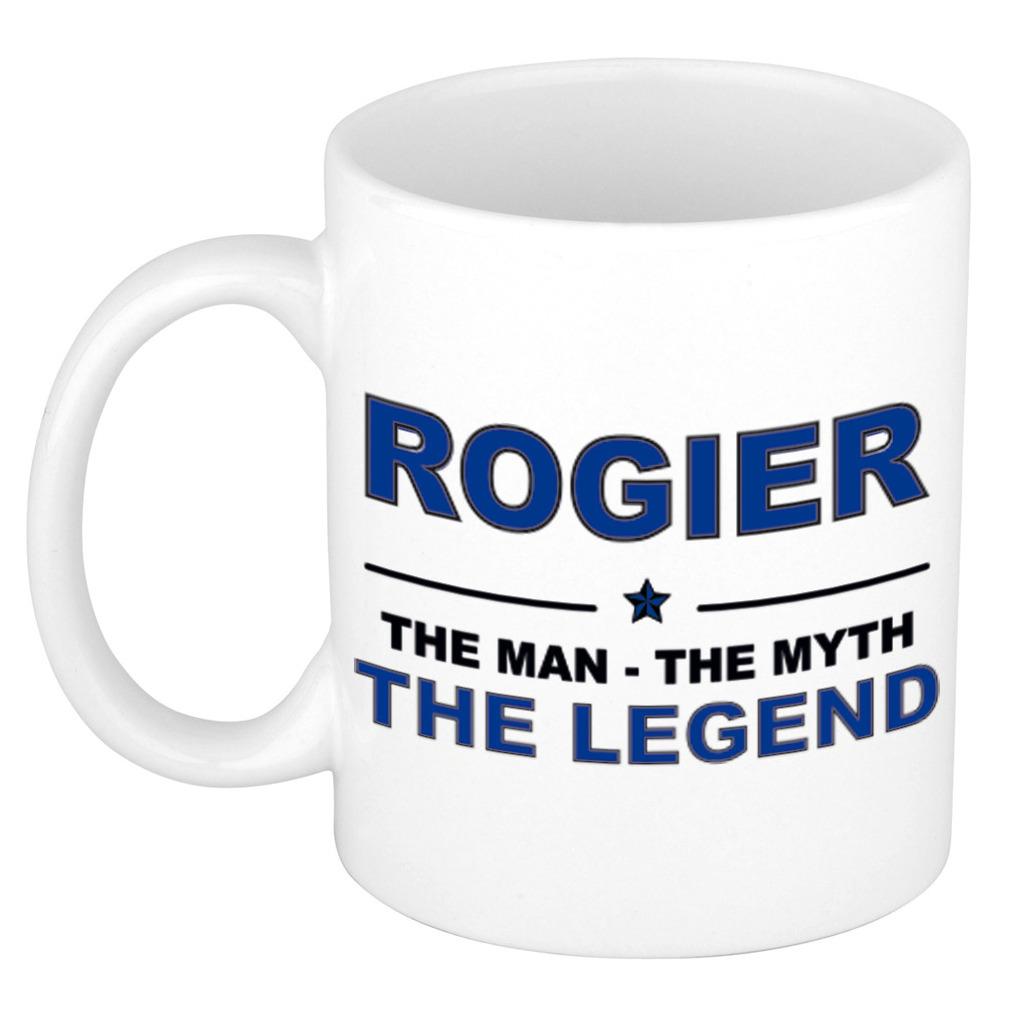 Rogier The man, The myth the legend collega kado mokken/bekers 300 ml