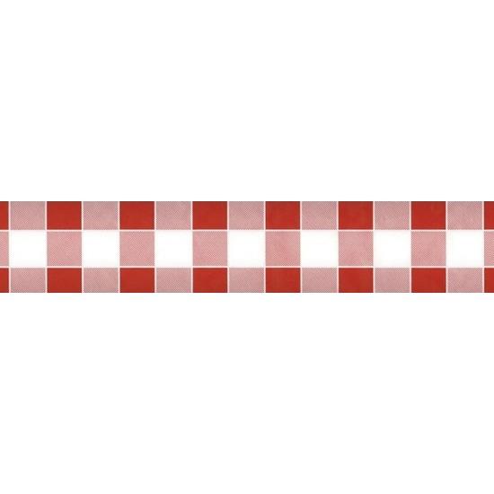 Rood/wit ruitjes papieren tafellaken/tafelkleed 1000 x 118 cm