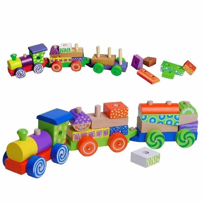 Set voor houten speelgoed trein Geen