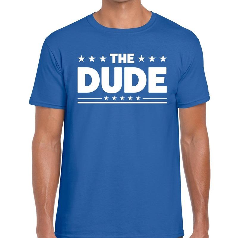 The Dude heren T-shirt blauw